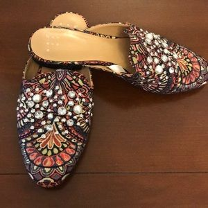 Tapestry and Jeweled Mules